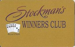 Stockman´s Casino Fallan, NV - Slot Card (BLANK) - Casino Cards