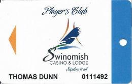 Swinomish Casino Anacortes, WA - Slot Card - Dark Blue Band On Right - Casino Cards