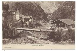 SAINT SAUVEUR SUR TINEE,  STATION ESTIVALE, PONT DE ROURE - Alpes Maritimes 06 - Circulé 1929 - France