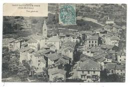 CPA - SAINT SAUVEUR SUR TINEE, VUE GENERALE - Alpes Maritimes 06 - Circulé 1906 - France