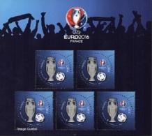 France BF N° F 560512 ** UEFA EURO_2016 Bloc Football De 5 Timbres En 3D - Mint/Hinged
