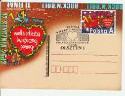 Coeur Heart - Olsztyn 2003 - Final Orkiestra Orchestre - Musique Musik Music - Stationery Ganzsache Entier - Interi Postali
