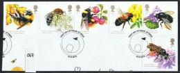 GB 2015 Bees Set USED On Piece - 1952-.... (Elizabeth II)
