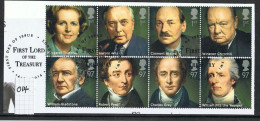 GB 2014 Prime Ministers Set USED On Piece - 1952-.... (Elizabeth II)