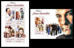 S. TOME & PRINCIPE 2013 - James Gandolfini - YT 4220-3 + BF667; CV = 29 € - Film