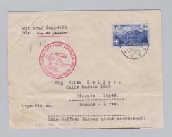 Schweiz 1930-05-16 Zeppelin-Brief M.5Fr.Einz.fr.Argent. - Suisse