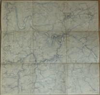 Altena Lennetal - 45cm X 50cm - Topographische Karte Mit Leinenverstärkten Falzen - Topographische Karten
