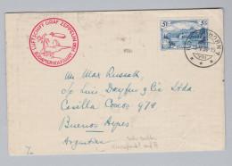 Schweiz 1930-05-16 Zeppelin Südamerikafahrt  Mit 5Fr Einzelfrankatur Brief Nach Argentinien - Suisse