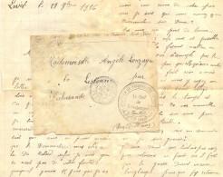 GUERRE 14-18 CHANTIER DE PRISONNIERS DE GUERRE * LIVET ( ISERE ) * TàD LIVET ET GAVET 29-9-16 -> PUY DE DOME PICHERANDE - Marcophilie (Lettres)