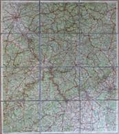 Rheinland Mit Eingetragenen Grenzen Des Besetzten Gebietes Und Für Den Autoverkehr Verbotenen Strassen - 60cm X 50cm Auf - Topographische Karten