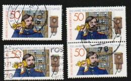 Deutschland BRD 1977 Michel Nr. 947 X4 Gestempelt. Telefon. 100 Jahre Fernsprecher. Telephon. Sc 1261, Yv 794 - [7] Federal Republic