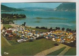 """CPSM SEVRIER (Haute Savoie) - Vue Aérienne """"Camping Du Piron"""" Café Bar Au Bord Du Lac - Autres Communes"""