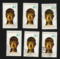 Deutschland BRD 1977 Michel Nr. 933 X6 Gestempelt. Stauferjahr. Sc 1247 / YT 780 - Gebraucht