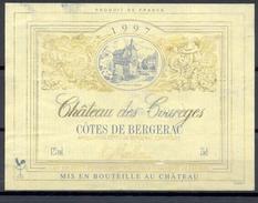 065 - Côtes De Bergerac - 1997 - Château Des Courèges - Moelleux - G.A.E.C. Fourtout Propriétaire Conne De Labarde 24360 - Bergerac