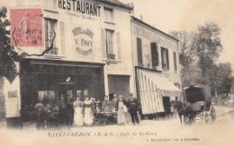 CPA - St Chéron - Café De La Gare - Saint Cheron
