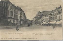St -Nicolas -  St. Nikolaas   O.L.Vrouwplaats   -   Plaisantstraat  -  1906  Naar  Ostende - Sint-Niklaas