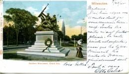MILWAUKEE -- GRAND AVENUE SOLDIERS MONUMENT - Milwaukee