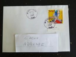 MONETEAU CC - YONNE - CACHET ROND MANUEL SUR YT 3932 TANGO DANSE - Marcophilie (Lettres)