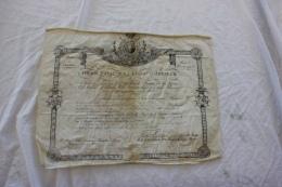 BREVET DE CHEVALIER DE L ORDRE ROYAL DE LA LEGION  DHONNEUR EN 1929 SIGNE CHARLES X - Documenti