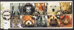 GB 2011 World Wildlife Fund WWF Set USED On Piece - 1952-.... (Elizabeth II)