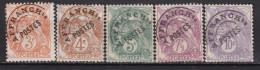 FRANCE PREO 1922/1947 YT N° 39/43 OBL(NSG) COTE 6.10€ - Préoblitérés
