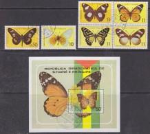 Sao Tome E Principe 1979 Butterflies 6v + M/s Used Cto (30186) - Sao Tome En Principe