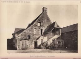 1928 - Héliogravure - Saint-Jean-des-Mauvrets (Maine-et-Loire) - Un Manoir - FRANCO DE PORT - Old Paper
