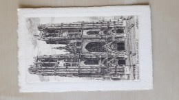 Brussel Bruxelles Sainte Gudule Door O.Pasquier Edition Deward - Lithographies