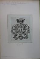 Ex-libris Héraldique  XVIIIème - Suisse - GOBEL (Jean-Jacques) 1733-1802 Achidiacre (Munster In Delsberg) - Ex-libris