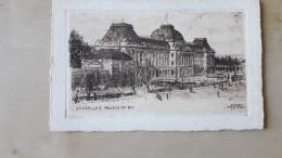 Brussel Bruxelles Palais Du Roi Door O.Pasquier Edition Deward - Lithographies