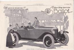 """Pub.1924 La 2 Litres Tourisme  Ballot Automobile   """" Celle Qu'on Ne Discute Pas !!!""""  Bretonne  BE - Publicités"""
