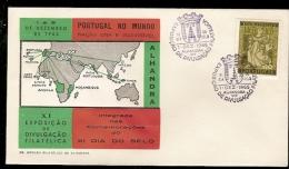 Portugal & FDC XI Exposição Filatelica, Dia Do Selo, Portugal No Mundo, Alhandra 1965 (341) - Lisboa