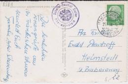 Bund Heuss Mi 183 I PSt I Stempel Kirchahorn ü Bayreuth Kte 1958 - Storia Postale