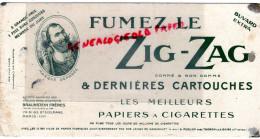75- PARIS - BUVARD ZIG-ZAG- ETS. BRAUNSTEIN FRERES-78 BD EXELMANS- TABAC CIGARETTES -GASSICOURT -THONON LES BAINS - Unclassified