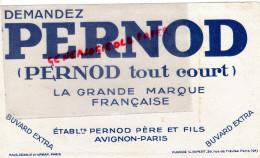 84- AVIGNON - 75- PARIS - BUVARD PERNOD - PUBLICITE RIPERT - ALCOOL APERITIF - Unclassified