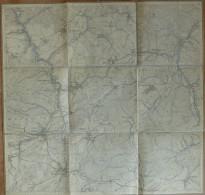 Rödinghausen Balve Hachen Seidfeld - Hönne Sorpe Rohr - Topographische Karte Mit Leinenverstärkten Falzen 47cm X 49cm - Topographische Karten