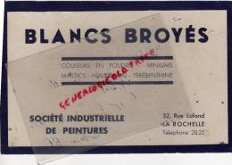 17 - LA ROCHELLE - BUVARD STE INDUSTRIELLE DE PEINTURES- BLANCS BROYES-32 RUE LAFOND- HUILE DE LIN-TEREBENTINE - Unclassified