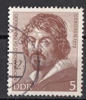 """1425 Germania Democratica 1973  - """" Ritratto Di Caravaggio """" - Quadro Dipinto Da Ottavio Leoni - Viaggiato Painting DDR - Arts"""