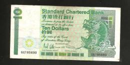 HONG KONG - STANDARD CHARTERED BANK - 10 DOLLARS (1993) - Hong Kong