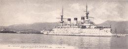 """Bb - Cpa Format Carte Lettre (11 X 28 Cm) Le """"Peresviet"""", Croiseur Cuirassé De La Marine Impériale Russe, Torpillé Par - Guerra"""