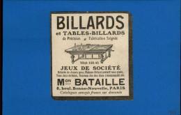 BILLARD - Publicité Issue D´une Revue De 1906 Collé Sur Feuille - Non Classés
