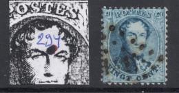 N° 15 VARIETE  Point Bleu Sur Le Front Position 294 - 1863-1864 Medaillen (13/16)