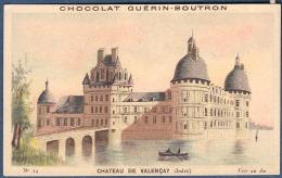 Chromo Chocolat Guerin-Boutron Chateaux Historiques - 14 Château De Valençay Indre Talleyrand - Guerin Boutron