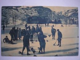 SUISSE - CPA - Curling Match - Belle Carte ANIMEE Peu Commune - Ed . Photoglob ZURICH - Suisse