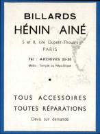 BILLARD - Publicité Issue D´une Revue De 1941 Collé Sur Feuille - Vieux Papiers