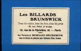 BILLARD - Publicité Issue D´une Revue Collée Sur Feuille - Non Classés