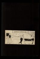 BILLARD - Dessin Issu D´une Revue De 1921 Collé Sur Feuille A4 - Vieux Papiers