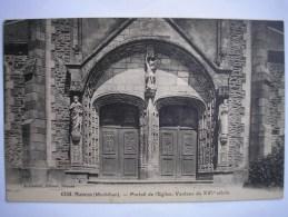 56 - CPA - MAURON - Portail De L'Eglise Vantaux Du XVI ème Siècle - Carte Peu Commune - France