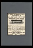 BILLARD - Publicité Issue D´une Revue De 1910 Collée Sur Feuille A4 - Non Classés