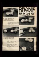 BILLARD - Article Issu D´une Revue De 1964 Collée Sur Feuille A4 - Vieux Papiers